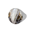 Кольцо, серебро, фианиты, эмаль.  Ювелирная компания