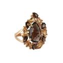 Кольцо, золото, раух-топаз, цитрины. Ювелирная компания