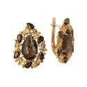 Серьги, золото, раух-топаз, цитрин. Ювелирная компания