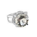 Кольцо, серебро, горный хрусталь, фианиты. Ювелирная компания