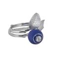 Кольцо, серебро, эмаль, фианит. Ювелирный завод