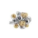Кольцо, серебро, позолоченное серебро. Ювелирная компания