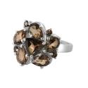 Кольцо,  серебро, раух топаз.  Ювелирная компания