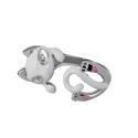 Кольцо,  серебро, эмаль, фианиты.  Ювелирная компания SOKOLOV