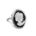 Кольцо, серебро, оникс, перламутр. Ювелирная компания
