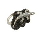 Кольцо, серебро, оникс, фианиты. Ювелирная компания