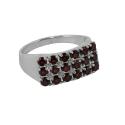 Кольцо, серебро, гранаты. Ювелирная компания