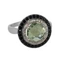 Кольцо, серебро, цитрин, фианиты. Ювелирный завод