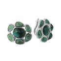 Серьги, серебро, зеленый кварц. Ювелирная компания