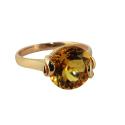 """Кольцо, золото, цитрин. Ювелирная компания """"МАБЭ""""."""