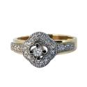 Кольцо, лимонное золото, белое золото, бриллианты.  Ювелирная компания