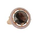 Кольцо,  золото, раух-топаз, фианиты.  Ювелирная компания