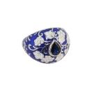 Кольцо,  серебро, эмаль, фианит.  Ювелирная компания SOKOLOV