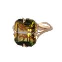 Кольцо,  золото, султанит.  Ювелирная компания
