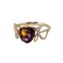 Кольцо,  золото, мистик, фианиты.  Ювелирная компания