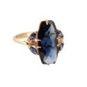 Кольцо,  золото, синий шпинель.  Ювелирная компания