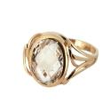 Кольцо,  золото, горный хрусталь.  Ювелирная компания