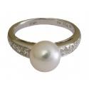 Cеребряные украшения кольцо жемчуг ювелирная компания МАБЭ
