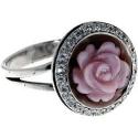 серебряные украшения кольцо роза ювелирная компания МАБЭ