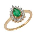 Золото кольцо изумруд бриллианты ювелирная компания МАБЭ
