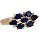 Золото кольцо сапфиры бриллианты  ювелирная компания МАБЭ