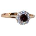 Золото кольцо с рубином и бриллиантами ювелирная компания МАБЭ