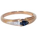 Золото кольцо сапфиром бриллиантами  ювелирная компания МАБЭ