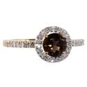 Золотое кольцо  крупный раух топаз и бриллианты  ювелирная компания МАБЭ