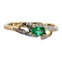 Золотое кольцо изумруд и бриллианты ювелирная компания МАБЭ