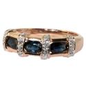 Золотое кольцо  сапфиры и бриллианты дорожка ювелирная компания МАБЭ