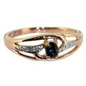 Золотое кольцо сапфир и бриллианты ювелирная компания МАБЭ