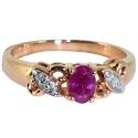 Золото кольцо рубин и бриллианты  ювелирная компания МАБЭ