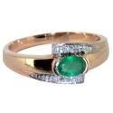 золотое кольцо с изумрудом и бриллиантами ювелирная компания МАБЭ