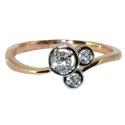золотое кольцо с белым золотом и бриллиантами  ювелирная компания МАБЭ