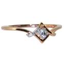кольцо золотое с бриллиантами ювелирная компания МАБЭ