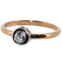 золотое кольцо с белым золотом и бриллиантом  ювелирная компания МАБЭ