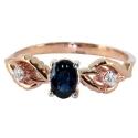золотое кольцо с бриллиантами и сапфиром ювелирная компания МАБЭ