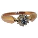 Золотое кольцо с бриллиантом ювелирная компания МАБЭ