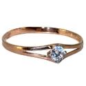 золотое кольцо с  крупным фианитом  ювелирная компания МАБЭ