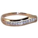 Золото кольцо с  фианитами волнистая дорожка  ювелирная компания МАБЭ