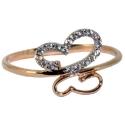 Золотое кольцо с фианитами ювелирная компания МАБЭ