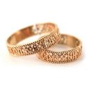 Кольцо обручальное ажурное золото