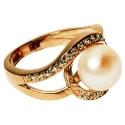 Золотое кольцо жемчуг фианиты Ювелирная компания МАБЭ