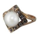 Золото кольцо культивированный жемчуг Ювелирная компания МАБЭ