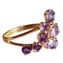 золотое кольцо аметисты виноград Ювелирная компания МАБЭ