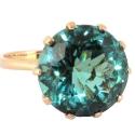 золотое кольцо зеленый аметист Ювелирная компания МАБЭ