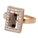 золотое кольцо раух топаз фианиты Ювелирная компания МАБЭ