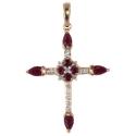 Золотой крестик бриллианты рубины Ювелирная компания МАБЭ