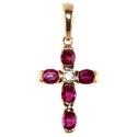 Золотой крестик бриллиант рубины Ювелирная компания МАБЭ