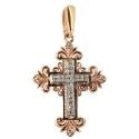 Золотой крестик бриллианты Ювелирная компания МАБЭ
